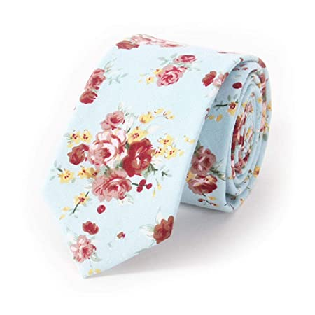 Yongyong Corbata De Algodón con Forma De Flecha Estampado Floral ...