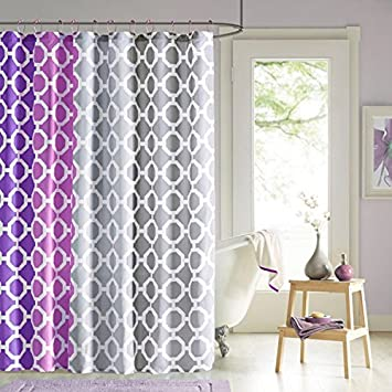 90 By Design Lab DES70 006 Dani Printed Shower Curtain Hook Set