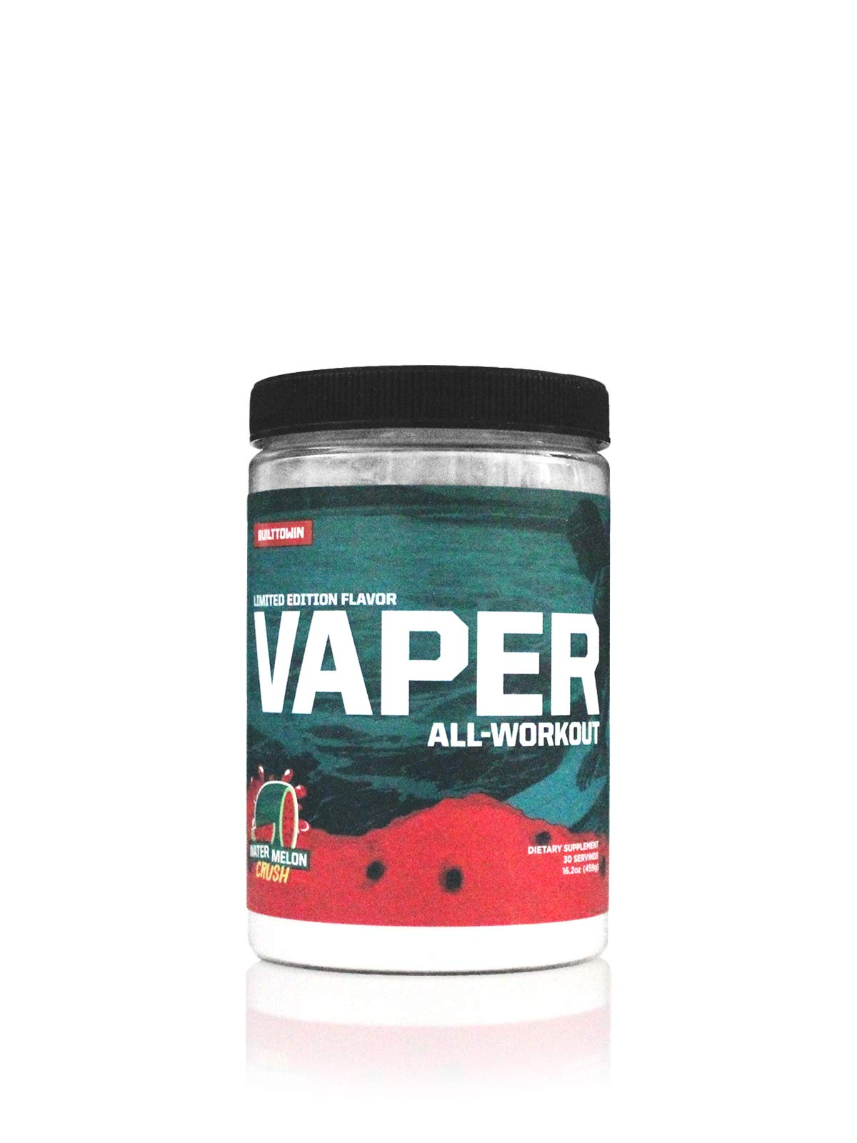Vaper All-Workout™ (No Crash/No Jitters Pre-Workout + Vegan BCAAs + Thermogenic Fat Burner + Electrolyte Hydration) 4 Products in 1 Drink! (Watermelon Crush)