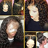 JAHUI Hair 8A Full Lace Human Hair Wigs for Black Women Wet Wavy Brazilian Virgin Hair Glueless Lace Front Wig with Baby Hair (12inch with 130% density, Full Lace wigs)