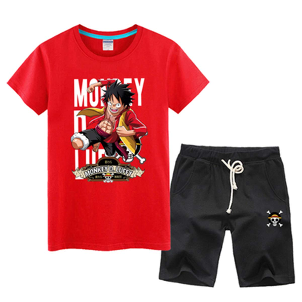 Anime One Piece Luffy T-shirt Tee Shirt Summer Casual Wear Loose And Comfortable