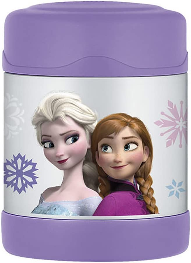 Thermos FUNtainer Frozen Food Jar, Built To Withstand Everyday Use, Keeps Food Hot for 5 Hours and Cold For Up To 7 Hours, Compact and Lightweight, Purple, 10 ounces