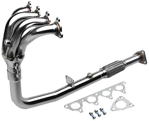 Amazon Com Dna Motoring Hds Ha90 41 Stainless Steel 4 1 Header