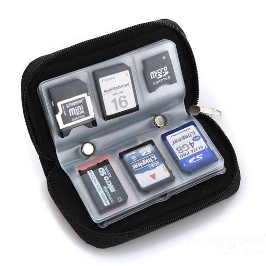 Susenstone® Memory Card Storage Wallet Case Bag Holder SD Micro Mini 22 Slots Camera Phone