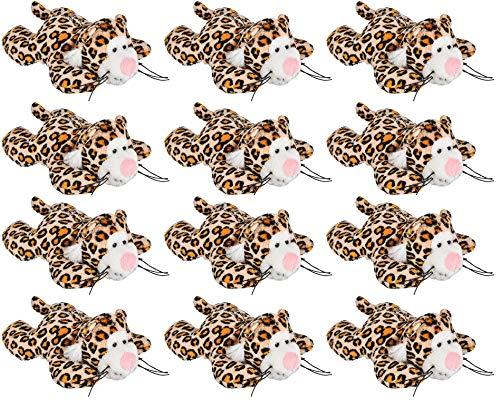"Wildlife Tree 12 Pack Cheetah Mini 4"" Small Stuffed Animals, Bulk Bundle Zoo Animal Toys, Jungle Safari Party Favors for Kids ()"