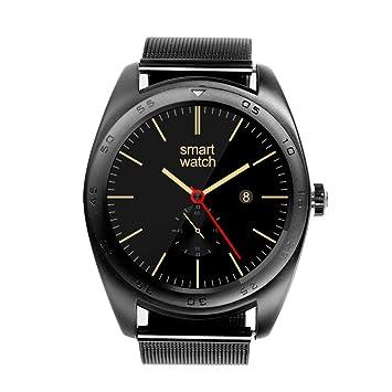 Rubility®K89Pantalla Ronda Bluetooth reloj de pulsera con SmartWatch inoxidable Banda Compatiale para iOS / Android Smartphone