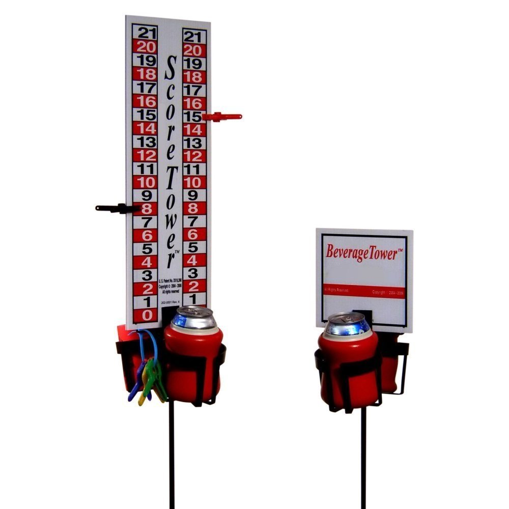 Horseshoe Pit Scoreboard Plans - Amazon com score tower combo set includes outdoor game score tower 2 drink holders horseshoe games sports outdoors