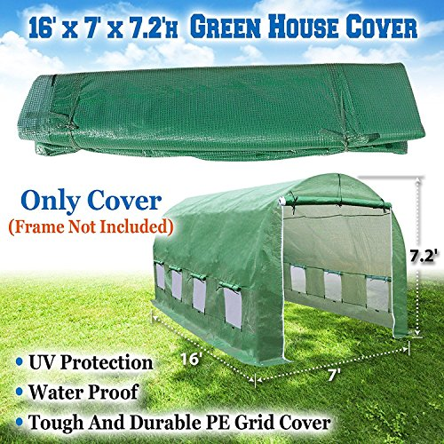 BenefitUSA 16 X 7' Replacement Green House (Cover Only) Greenhouse by BenefitUSA