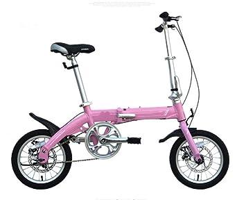 MASLEID 14 pulgadas bicicleta plegable de la aleación de aluminio de doble disco adulto Mini niños