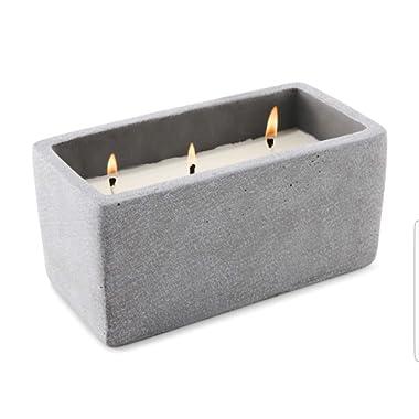 BHG Outdoor 3-Wick Citronella & Lemongrass Candle Faux Concrete