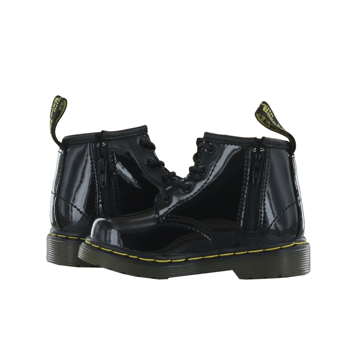 leather dr martens brooklee 15373003 infant boot in patent  Amazon.co.uk   Shoes   Bags 7ea62bbc382