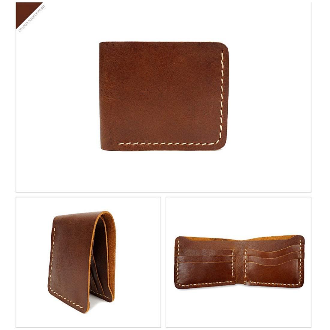 Sixminyo Männer Männer Männer echtes Leder Brieftasche RFID Blocking Bifold ID Brieftasche Schlank Krotitkarteninhaber Minimalist (Farbe   braun2) B07NXRTZP6 Geldbrsen 3fd8a1