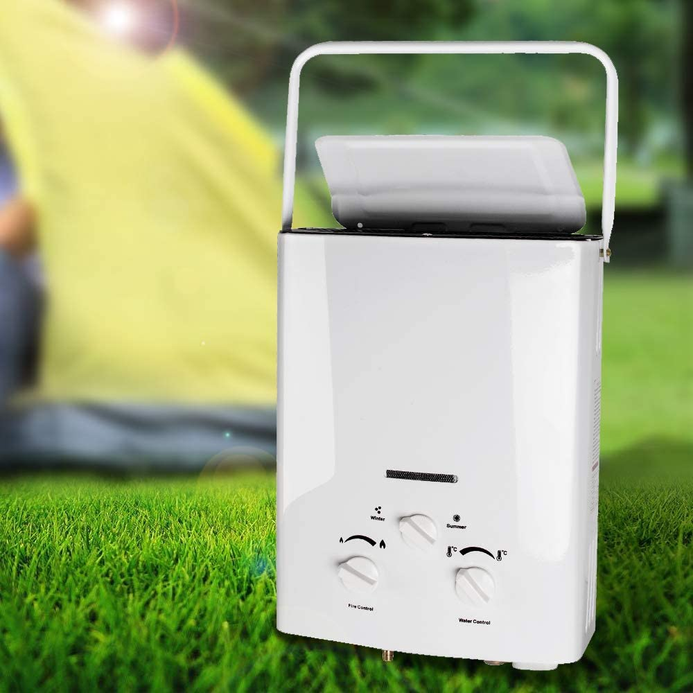 Shipping from Canada Denshine Portable LPG Propane Gas 6L Hot Water Heater Tankless Instant Boiler Outdoor with 1 Shower Kit