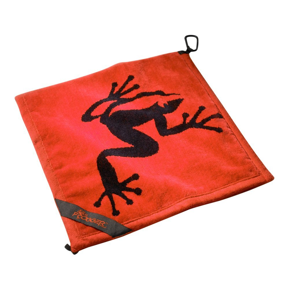 Frogger Golf Amphibian Wet/Dry Golf Towel, Red by Frogger
