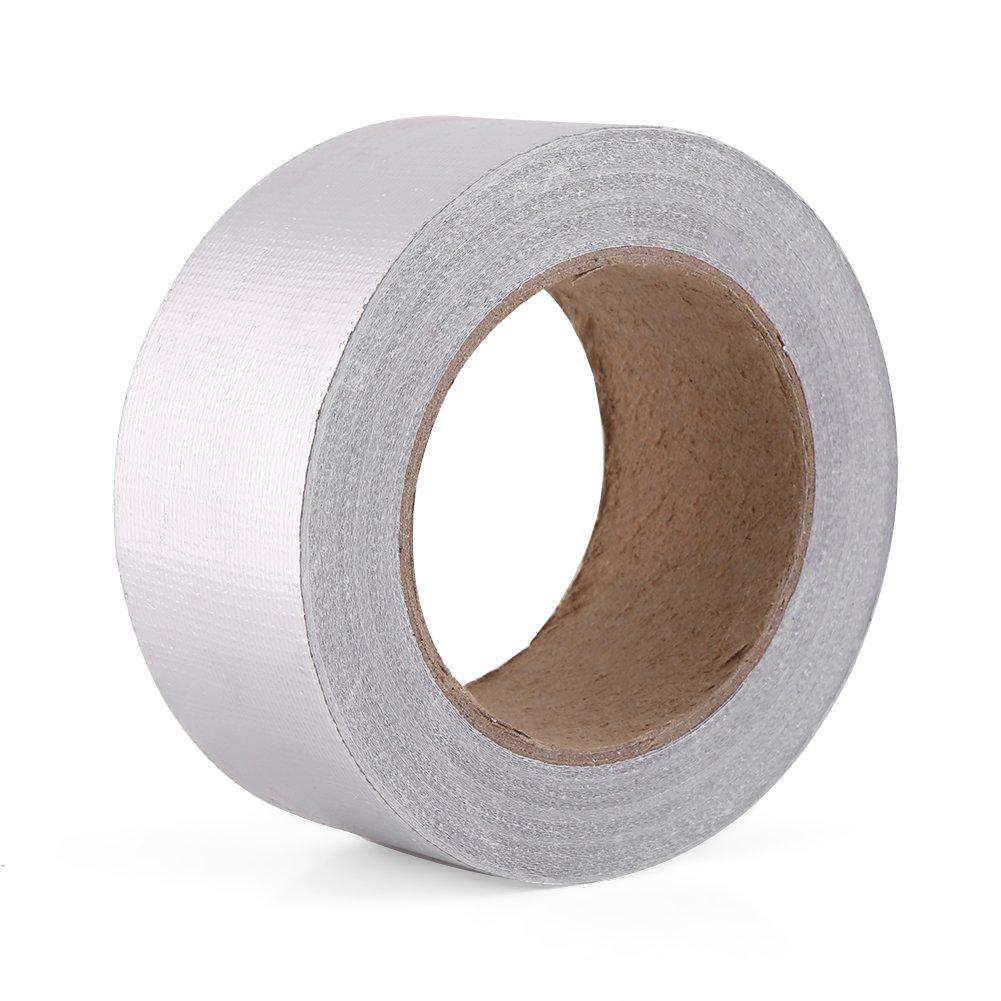 Roll of Hitzeschild Tape Auto Aluminium Foil Adhesive Reflective Hitzeschild Resistant Wrap Band 1.9 x 82ft Sliver