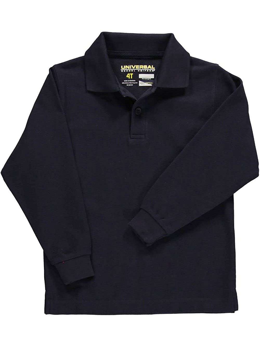 navy 3t Universal Toddler Unisex L//S Pique Polo
