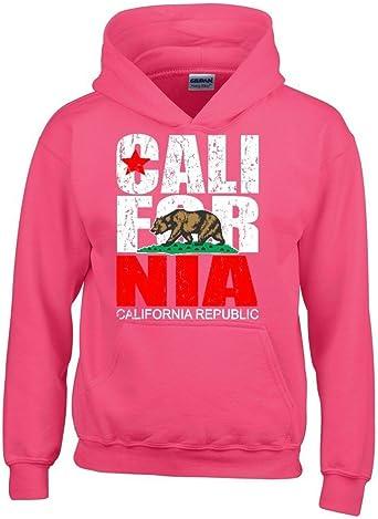 Artix California Republic Vintage White Bear Hoodies California Sweatshirts Large Red