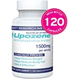 Lipozene MEGA Bottle - 120 Capsules - Largest Size Available - Appetite Suppressant and Control