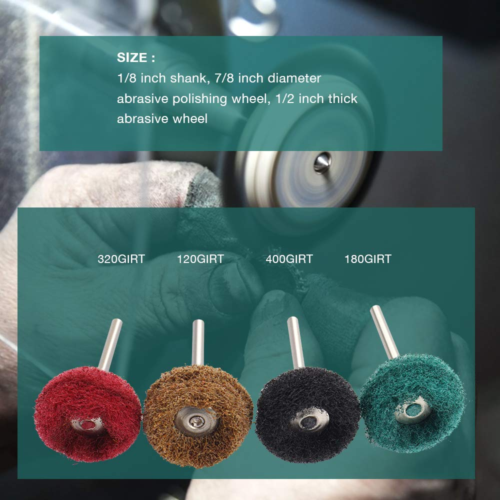 Abrasive Buffing Wheel Set for Dremel Rotary Tool/60 pcs