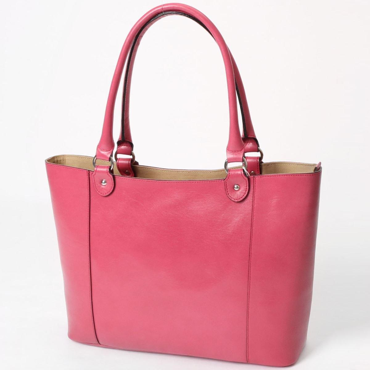 良質牛革 トートバッグ 本革 日本製 マゼンタ No.2571 レディースバッグ (鞄 かばん バッグ) 女性かばん   B077965YVS