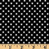 quilting fabric with 5 stars - Kaufman Sevenberry Classiques Small Star Navy Fabric By The Yard