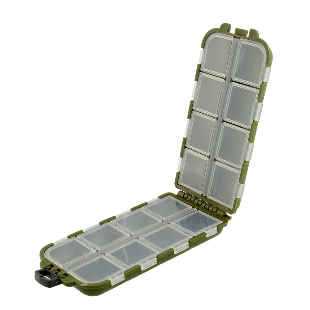 Sedeta 8 scomparti Caso bagagli Pesca cucchiaio esca gancio Tackle Box per USB flash drive verde Utile scatole di attrezzatura scatola di attrezzatura amazon Pesca cucchiaio esca gancio Tackle Box 8 s