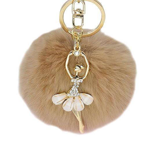 Shuohu Women Fashion Cute Angel Fur Ball Keychain Handbag Key Ring Car Key  Chain at Amazon Women s Clothing store  157d865481