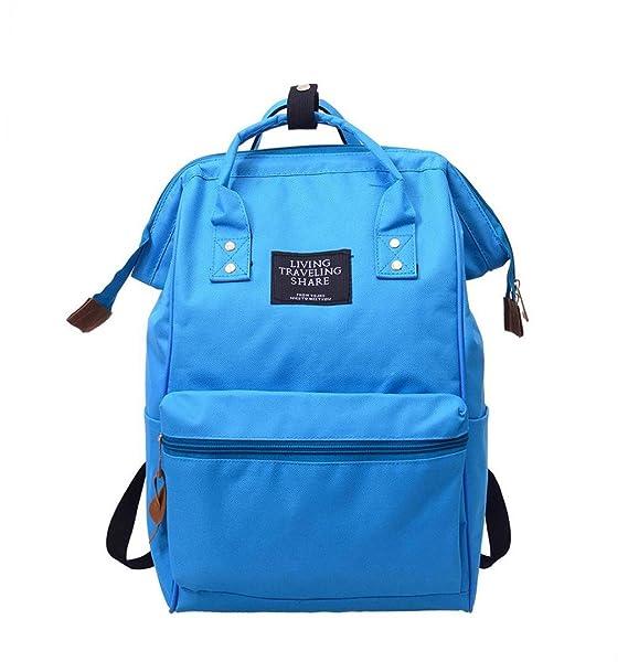 LuckES Color Sólido Bolso mochilas mujer Moda mochila bolso mujer Mochila de viaje Mochila escolar Mochilas