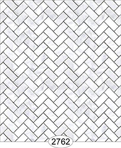 Amazon Com Dollhouse Wallpaper Carrara Marble Herringbone Tile