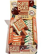 KETO BARS: The Original High Fat, Low Carb, Keto Snack Bars. Simple Ingredients, Gluten Free, Vegan. (Dark Chocolate Coconut Almond, 10 Count)