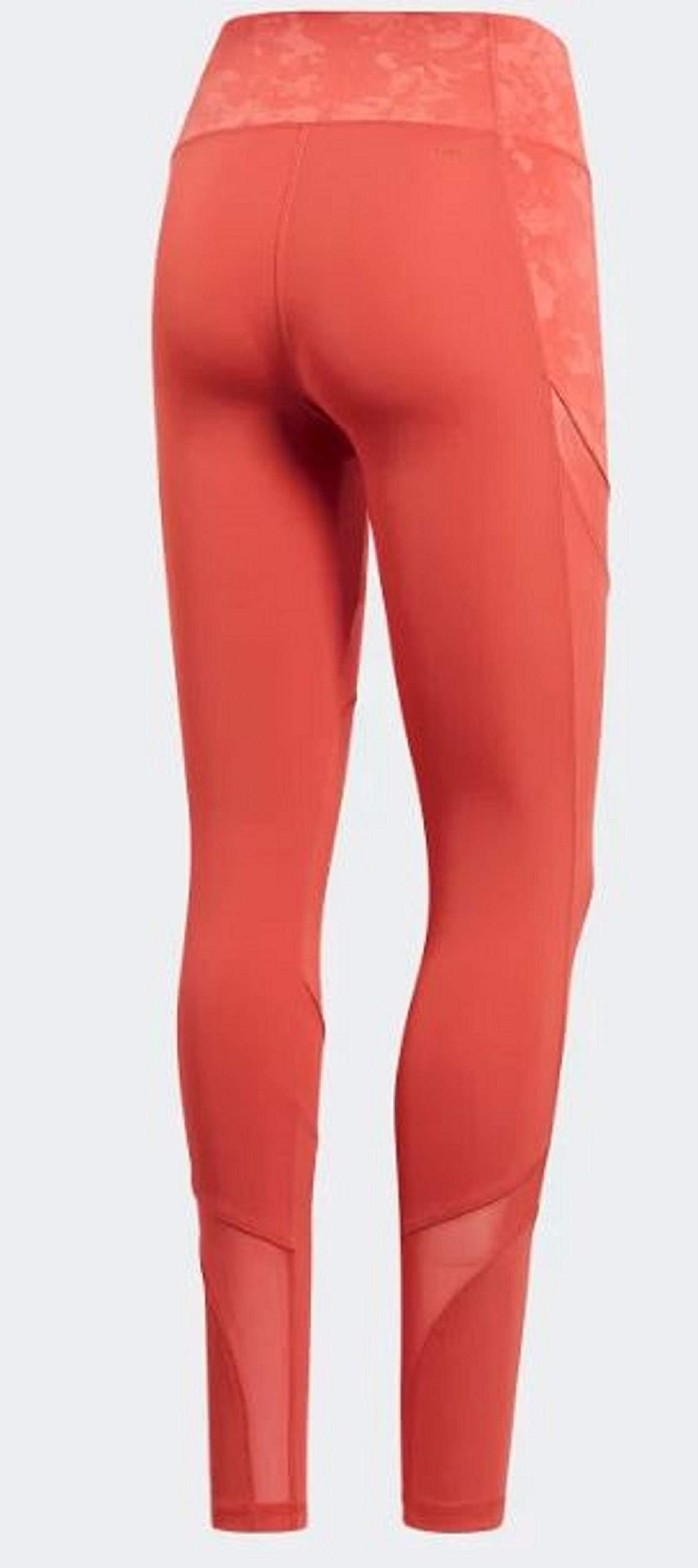 adidas Women's Climalite Ultimate High Rise Printed Long Tights, Trace Scarlet/Print, Small by adidas (Image #7)