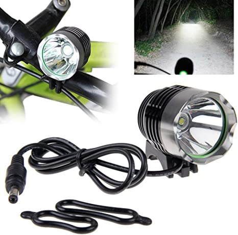 LED Bike Head Light Bicycles Flashlight Waterproof 25m 3W 150 Lumens 60hr Orange