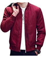 NEW Spring Autumn Mens Jackets Solid Fashion Coats Male Casual Slim Stand Collar Bomber Jacket Men