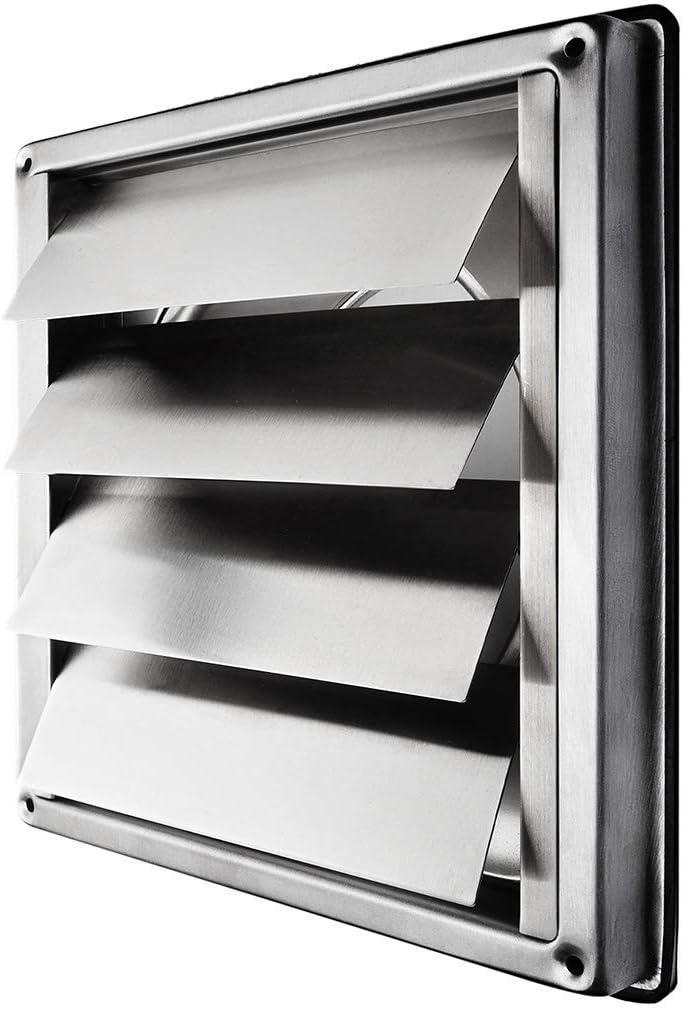 calimaero VKE 150 mm Rejilla de Ventilación Aire Externo de Acero Inoxidable del Louvre Láminas