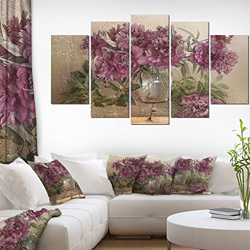 Bouquet of Pink Peonies Floral Fine Art Wall Photgraphy on Canvas Art Wall Photgraphy Artwork Print by Design Art