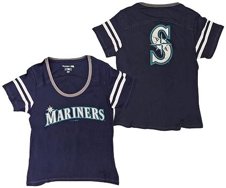 721ff88d3 Amazon.com   Seattle Mariners Women s Baby Jersey S S Scoop Neck ...