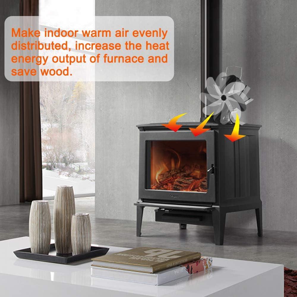 Signstek respetuoso con el medio ambiente con term/ómetro Ventilador de estufa con calefacci/ón chimenea de madera Clase de eficiencia energ/ética A ++ IT HF-8