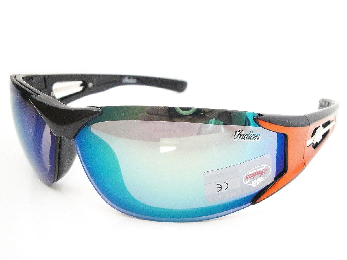 Shiny Dark Blue Wraparound Style Sunglasses with Case Harley Davidson