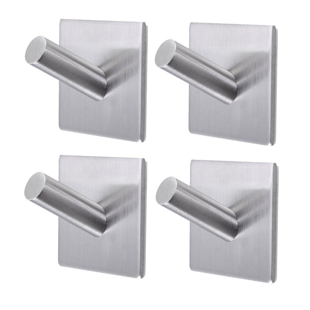 amazoncom bathroom towel hooksm self adhesive wall hooksheavy  - amazoncom bathroom towel hooksm self adhesive wall hooksheavy duty stainlesssteel coat hanger for hanging home  kitchen