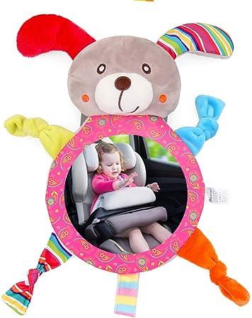 Espejo Retrovisor para Vigilar al Bebé en el Coche - Asiento Trasero Ajustable para Bebés con Respaldo Trasero