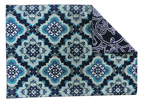 Split P Anatolia Tile/Floor Rev Placemat (Set of 4), Multicolored