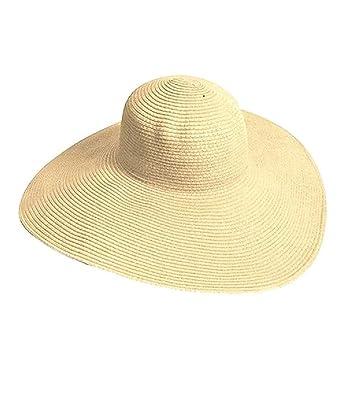 super cheap get new great quality TININNA Femmes Capeline Chapeau Soleil Paille Pliage Large Grand Brim  Disquette Chapeau de Plage d'été Anti UV