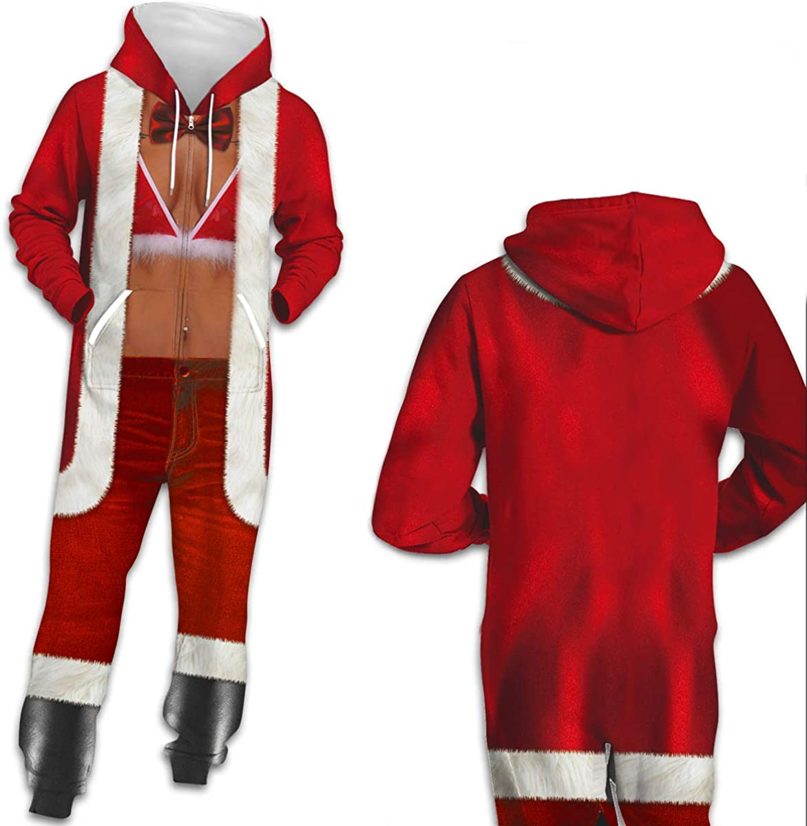 URVIP Unisex Family Sleepwear 3D Printed Jumpsuit Adult Nightwear Romper