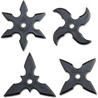 Throwing Star Juego de 4 Piezas de Accesorios de Disfraz de Estrellas de Juguete Ninja