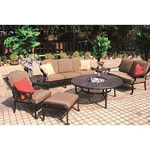 (Darlee Ten Star 7 Piece Outdoor Sofa Set in Antique Bronze)