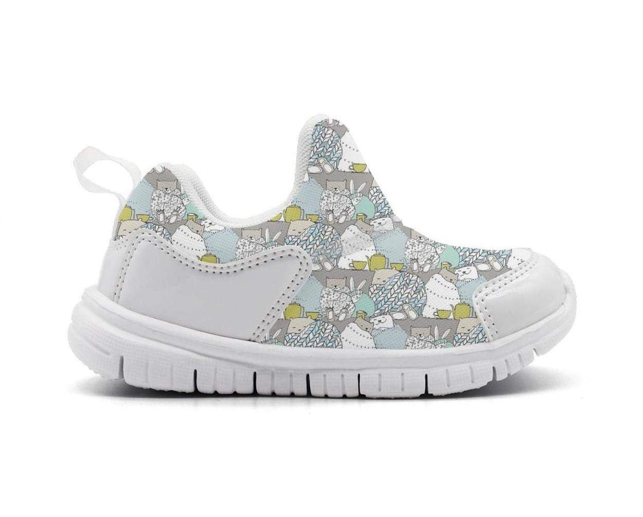ONEYUAN Children Cozy Bear Winter Tea Snuggle Animal Kid Casual Lightweight Sport Shoes Sneakers Running Shoes