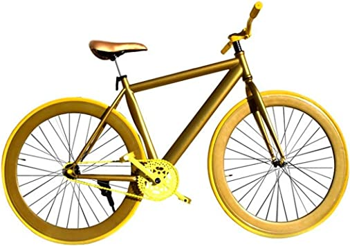 Riscko Wonduu Bicicleta Fixie Urbana Oro: Amazon.es: Deportes y aire libre