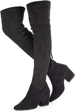 Mtzyoa Thigh High Block Heel Boot Women