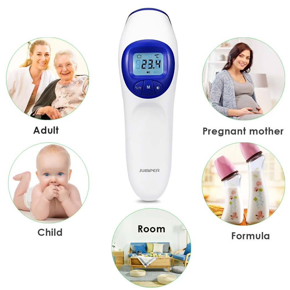 Amazon.com: BISOZER Digital Forehead Non Contact Thermometer - 3 in 1 Body Temperature, Room & Object Scanner - Instant Read & Highly Accurate - Fever Alert ...