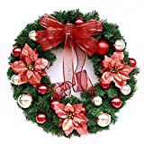 Christmas Garland for Stairs fireplaces Christmas Garland Decoration Xmas Festive Wreath Garland with Christmas wreath Christmas garlands,60cm